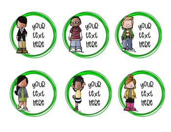 EDITABLE Classroom Labels (Melonheadz)