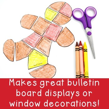 EDITABLE Gingerbread Man Activities - Make your own Math or Literacy Puzzles!