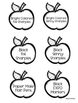 EDITABLE Giving Tree Apples FREEBIE