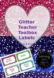 EDITABLE Glitter Teacher Toolbox Labels