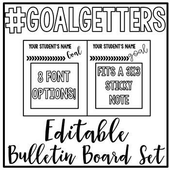 FREEBIE - EDITABLE Goal Setting Bulletin Board Set!