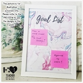 EDITABLE Goals List { Sticky Notes' Board } - Watercolor Succulent Theme