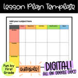 EDITABLE Google Doc Weekly Lesson Plan Template!
