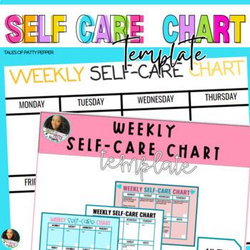 Editable Google Slide Self-Care Chart Bundle