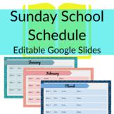 EDITABLE Google Slides Sunday School or Children's Church
