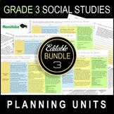 Grade 3 UNIT PLANS / Editable Bundle / SOCIAL STUDIES / AL