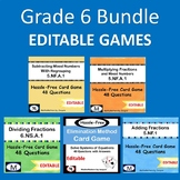 EDITABLE Grade 6 Bundle