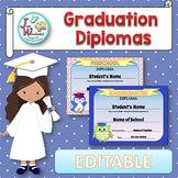 EDITABLE Awards EDITABLE Certificates Pre-K and Kindergarten Graduation Diplomas