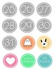 EDITABLE- Grey Circle Numbers