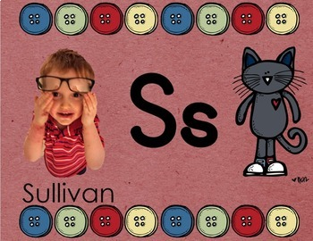 EDITABLE Groovy Cat Students' Faces & Names Slideshow