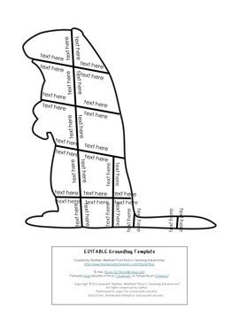 EDITABLE Groundhog Day Activity - Create your own math or literacy puzzles!