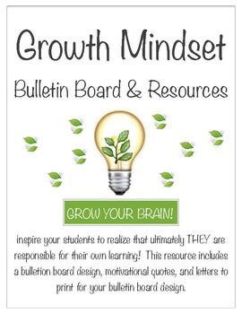 EDITABLE Growth Mindset Bulletin Board