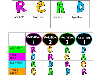 EDITABLE Guided Math and Reading Rotations Schedules