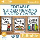 EDITABLE Guided Reading Binder Covers and Templates