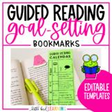 EDITABLE Guided Reading Goal-Setting Calendar Bookmarks - *FREEBIE*