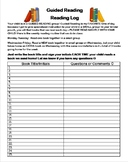 EDITABLE Guided Reading Homework Bundle