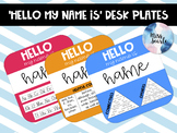 EDITABLE 'HELLO my name is' Rainbow Desk Plates #ausbts18 BTSdownunder