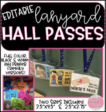 EDITABLE Hall Pass Lanyards!