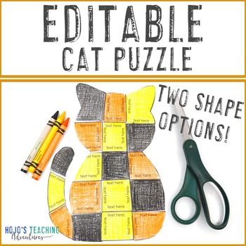 EDITABLE Halloween Activity Cat | Make your own Math, Literacy, Science, & MORE!