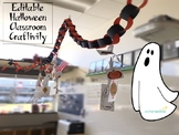 EDITABLE Halloween Classroom Activity Craft (4th Grade Mat
