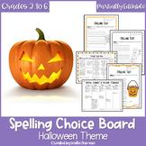 EDITABLE Halloween Spelling Choice Menu