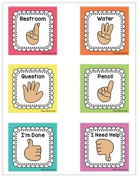 Hand Signals For The Classroom Editable Classroom