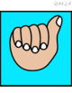 EDITABLE Square Hand Signal posters