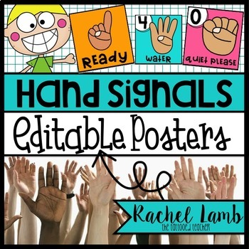 EDITABLE Hand Signal posters