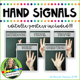 EDITABLE Hand Signals for Classroom Management