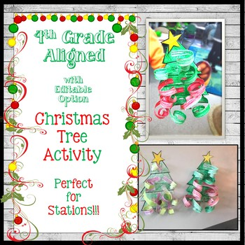 EDITABLE Hands ON Christmas Tree Activity ANY subject ANY content