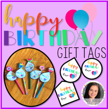 EDITABLE Happy Birthday Gift Tags