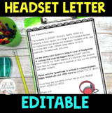 FREEBIE! - EDITABLE Headset/Earbud Home Letter - For Techn