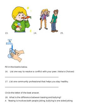 EDITABLE Health Test