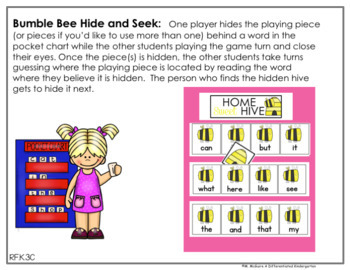 JULY EDITABLE Hide and Seek-12 Differentiated Sight Word Sets