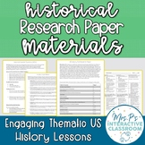 EDITABLE Historical Research Paper Materials for US History (Distance Learning!)