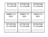 EDITABLE: Hole-Punch Behavior Cards