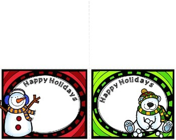 EDITABLE: Holiday Cards