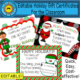 EDITABLE Holiday Gift Certificates