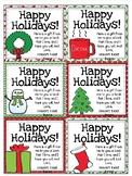 Editable Holiday Gift Tags