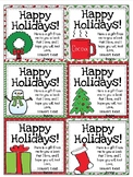 Editable Holiday Gift Tags