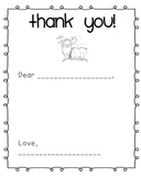 EDITABLE Holiday Thank You Note (FREEBIE!)