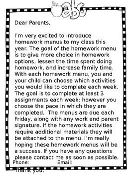 EDITABLE  Homework Calendars