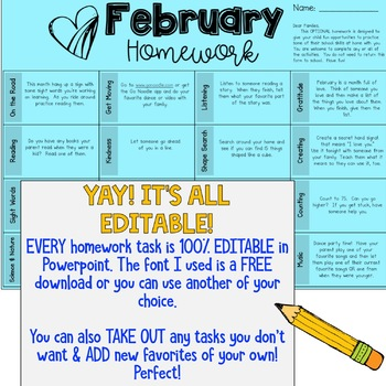 EDITABLE Homework Choice Boards for Google Slides or Powerpoint