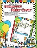 EDITABLE Homework Folder Cover (Dr. Seuss Inspired)
