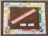 EDITABLE Homeworkopoly Game Board with Chance and Communit