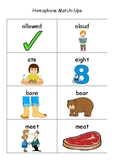 Homophones Match Cards and Complete the Sentences BUNDLE
