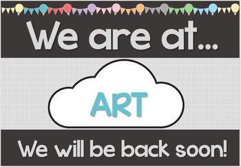 EDITABLE Hot Air Balloon Themed 'We are at...' Sign (Classroom Location)