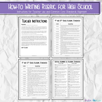 EDITABLE How-to Writing or Explanatory Writing Rubric for High School