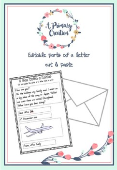 EDITABLE - How to write a letter cut & paste