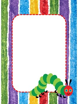 EDITABLE Hungry Caterpillar Labels